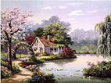 Sung Kim Arbor Cottage painting