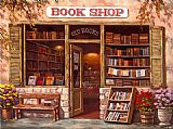 Sung Kim Book Shop painting