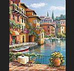 Sung Kim Cafe at the Canal painting