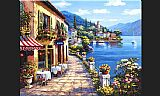 Sung Kim Overlook Cafe I painting