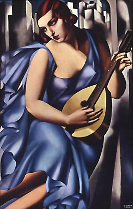 Tamara de Lempicka The Musician in Blue