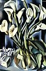 Still Life paintings - Calla Lilies by Tamara de Lempicka