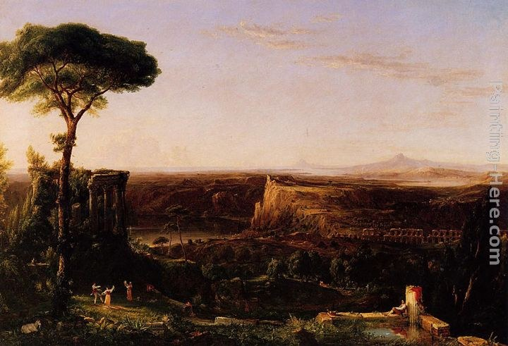 Thomas Cole Italian Scene, Composition