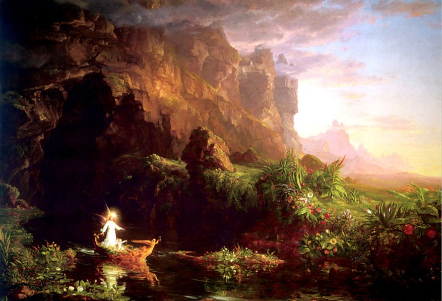 Thomas Cole The Voyage of Life Childhood