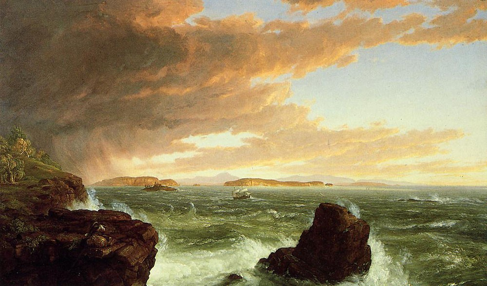 Thomas Cole View Across Frenchmans Bay from Mount Desert Island After a Squall