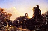 Thomas Cole An Italian Autumn painting