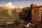 Thomas Cole Il Penseroso painting