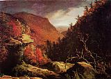 Lighthouse paintings - The Clove Catskills I by Thomas Cole