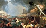 building paintings - The Course of Empire Destruction by Thomas Cole