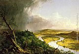 Landscape paintings - The Oxbow by Thomas Cole