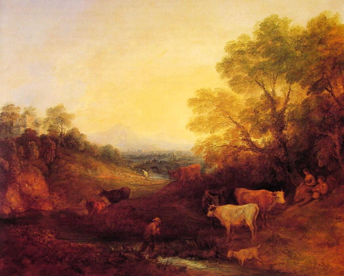 Thomas Gainsborough Landscape with Cattle