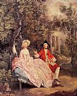 Thomas Gainsborough Conversation in a Park painting