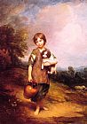 Thomas Gainsborough Cottage Girl with Dog and Pitcher painting