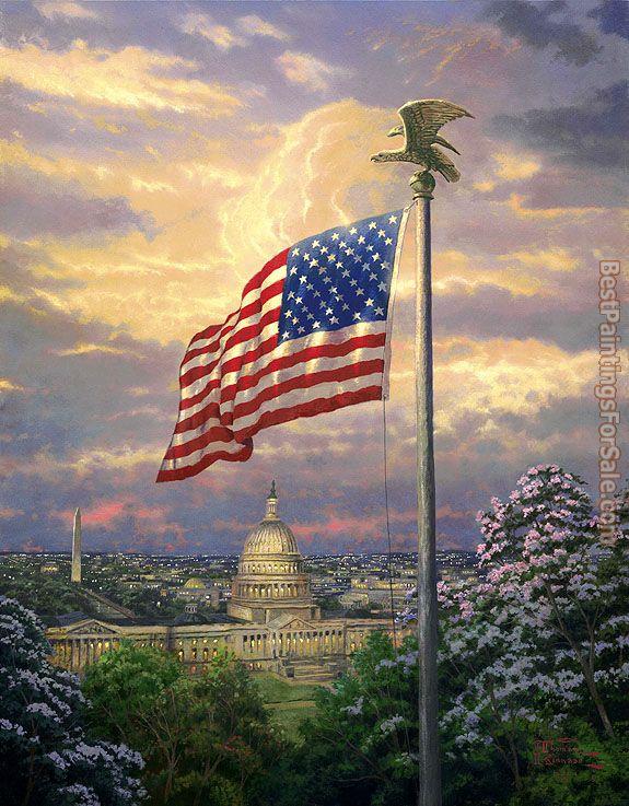 Thomas kinkade america 39 s pride painting best paintings for Americas best paint