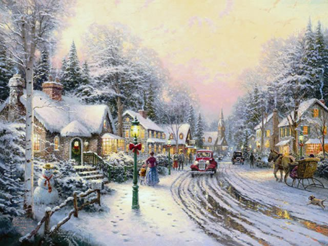Thomas Kinkade Christmas Village