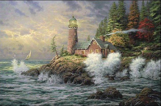Thomas Kinkade Courage