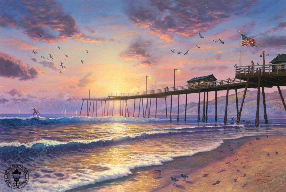 Thomas Kinkade Footprints in the sand