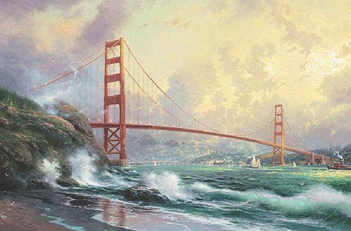 Thomas Kinkade Golden Gate Bridge San Francisco