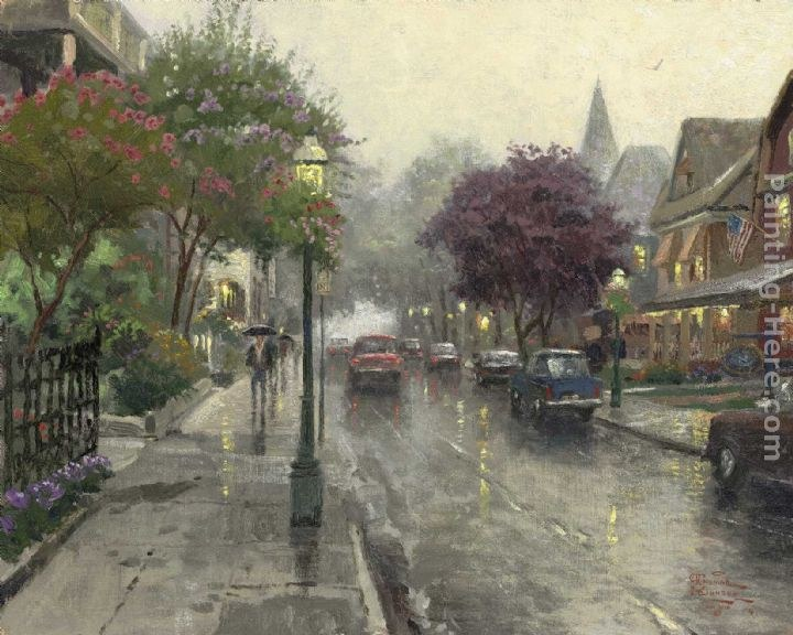 Thomas Kinkade Jackson Street,Cape May