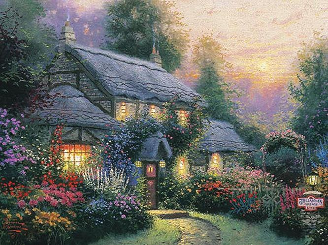 Thomas Kinkade Julianne's cottage