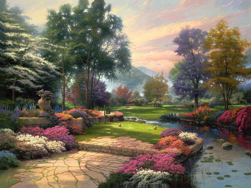 Thomas Kinkade Living Waters
