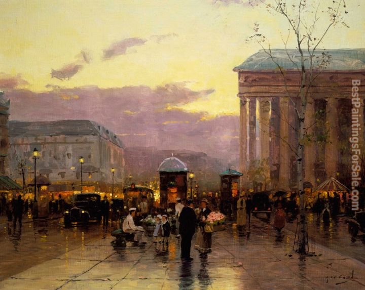 Thomas Kinkade Rainy Dusk, Paris
