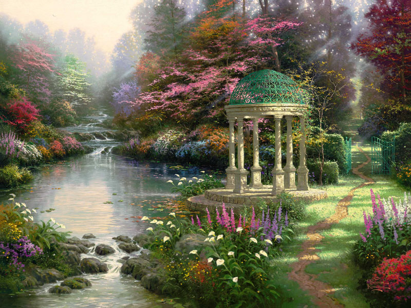 Thomas Kinkade The Garden of Prayer