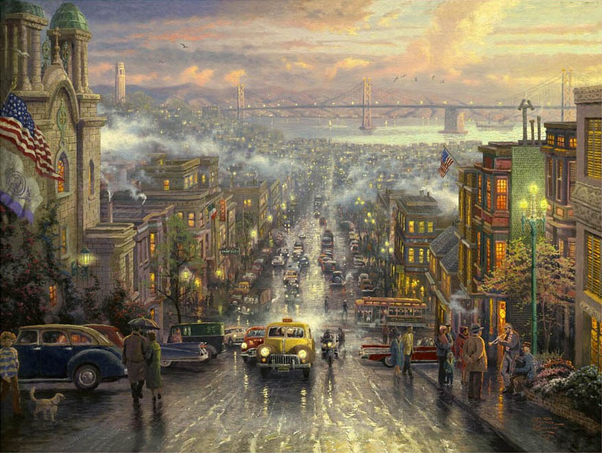 Thomas Kinkade The Heart of San Francisco