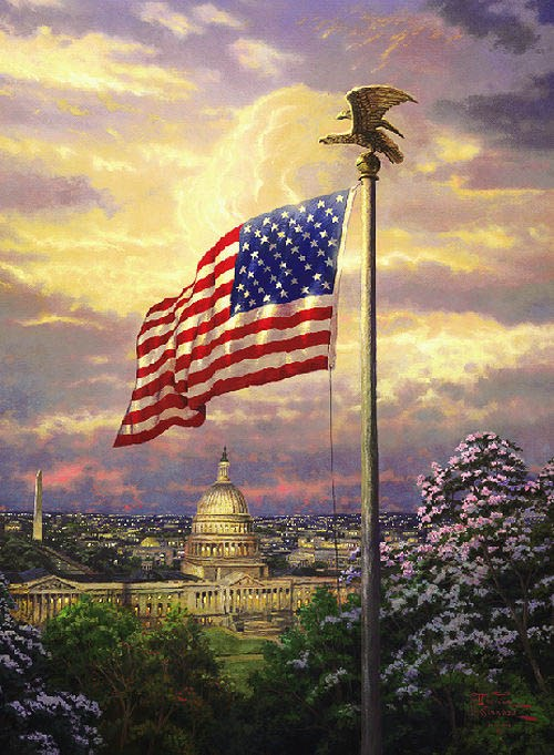 Thomas Kinkade The Light of Freedom