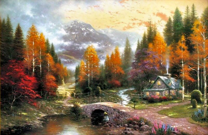 Thomas Kinkade The Valley of Peace