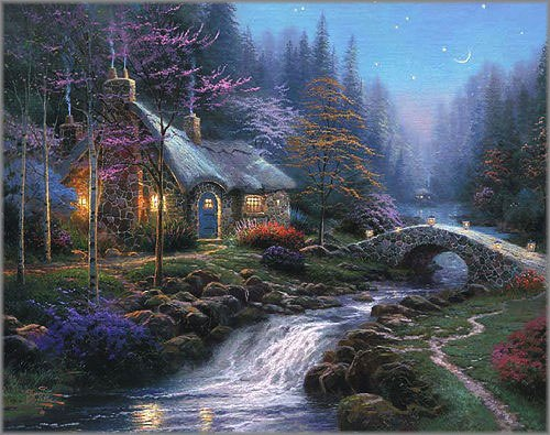 Thomas Kinkade Twilight Cottage