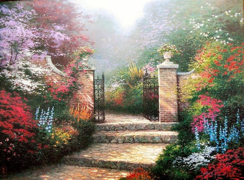 Superieur Thomas Kinkade Victorian Garden