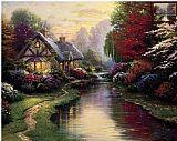 Thomas Kinkade A Quiet Evening painting