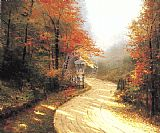Thomas Kinkade Autumn Lane painting