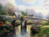 Thomas Kinkade Blossom Bridge painting