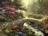 Garden paintings - Bridge of Faith by Thomas Kinkade