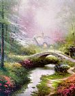 Thomas Kinkade Brookside Hideaway painting