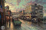 Thomas Kinkade Cannery Row Sunset painting