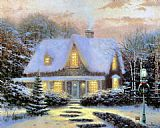 Thomas Kinkade Christmas Eve painting