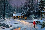Thomas Kinkade Christmas Miracle painting