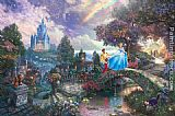 Thomas Kinkade Cinderella Wishes Upon a Dream painting