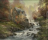 Thomas Kinkade Cobblestone Mill painting