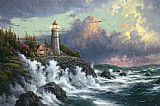 Beach paintings - Conquering the Storms by Thomas Kinkade