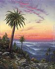 Thomas Kinkade Desert Sunset painting