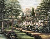 Thomas Kinkade Devries House painting