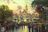 Thomas Kinkade Disneyland 50th Anniversary painting