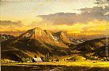 Thomas Kinkade Dusk In The Valley painting