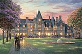 the kiss (le baiser _ il baccio) Paintings - Elegant Evening at Biltmore