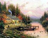 Thomas Kinkade End of a Perfect Day painting