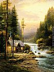 Thomas Kinkade Evening In The Forest painting